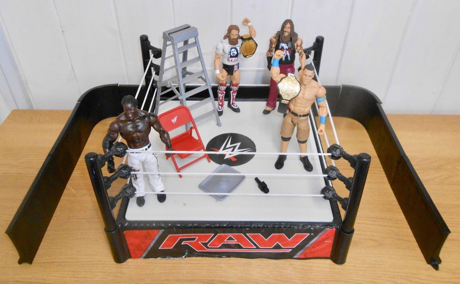 WWE-CATCH bague & accessoires  Play Set avec John Cena & Daniel Bryan figures  vente chaude en ligne