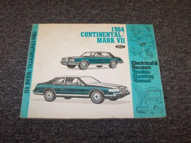 1984 Lincoln Continental  U0026 Mark Vii 7 Electrical Wiring