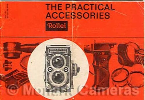 1963 Rolleiflex /& Rolleicord Practical Accessories Brochure More Leaflets Listed