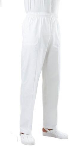 pantaloni bianchi con elastico in vita per cuoco Fisioterapista panettiere MP030