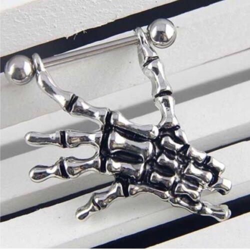 Barras De Anillo Pezón Quirúrgico Vintage Colgantes escudos Joyería Piercing del cuerpo 14G Reino Unido