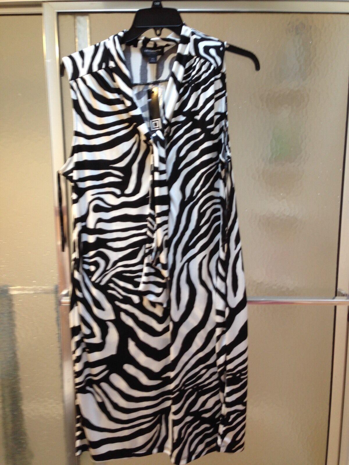 NWT Liz Claiborne schwarz Cream ColGoldt Shirt Dress;XL; Sleeveless; KneeLength;
