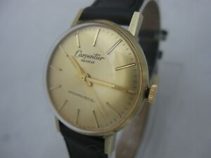 NOS-NEW-VINTAGE-SWISS-GOLD-PLATED-SHOCK-RESIST-WOMEN-039-S-CARPENTIER-WATCH-1960-039-S