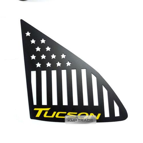 C Pillar Yellow Logo American Flag Window Sports Plate For HYUNDAI 16-18 Tucson