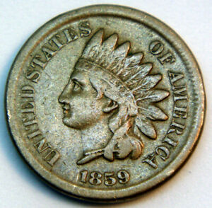 160-Year-Old-Antique-1859-Indian-Head-Penny-Liberty-VF-XF-Copper-One-Cent-Coin