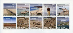 Djibouti-2017-MNH-Tourism-amp-Landscapes-Architecture-Ports-Beaches-10v-M-S-Stamps