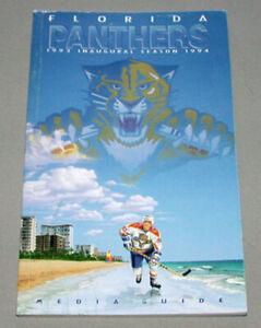 NHL-1993-94-Florida-Panthers-Inaugural-Season-Hockey-Media-Guide-Yearbook