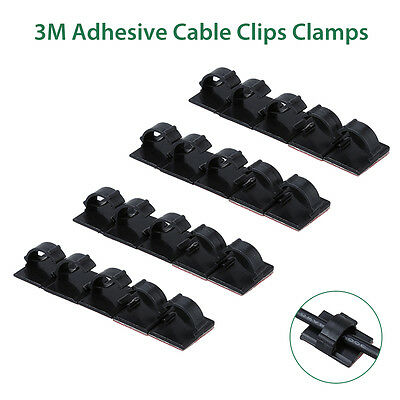 3M Adhesive Clamp Wire Clip Cable Holder Tie Clips For Universal Car Dash Camera