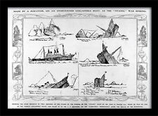 Titanic Sinks Drawing - Framed 30 x 40 Official Print