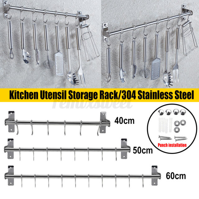 Cooking Utensil Cutting Board Holder Wall Mount Stainless Steel Compact For Sale Online Ebay