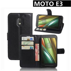 Premium-Leather-Wallet-Case-Cover-For-Motorola-Moto-E3-3rd-Gen