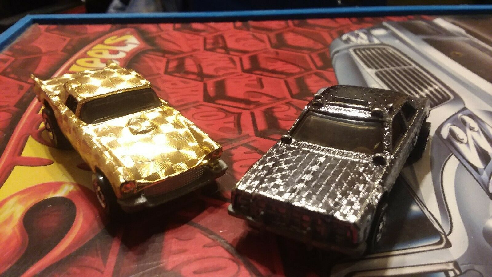 VINTAGE HOT WHEELS 1977 1977 1977 gold spiral and gold chrome gleamed patrol police e9dbe3