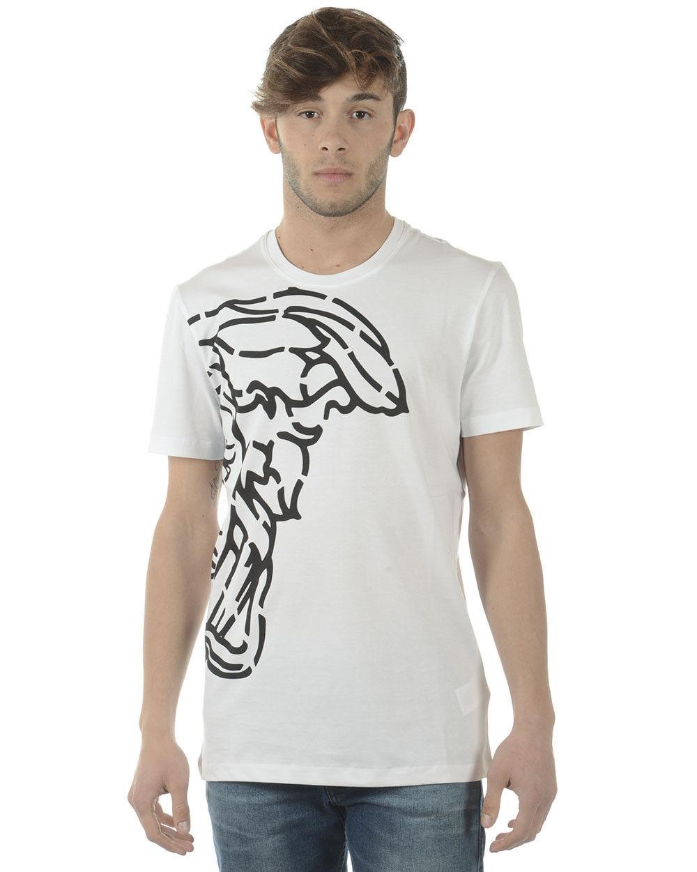 T shirt Versace Collection Sweatshirt Cotone  Herren Bianco V800683SVJ00359 V7001
