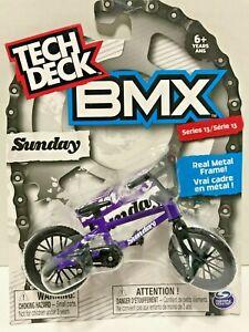 Tech Deck Bmx Series 13 Sunday Purple Metal Frame Black Tires Ebay