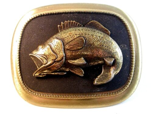 Vintage Large Mouth Bass Belt Buckle Made in U.S.A.