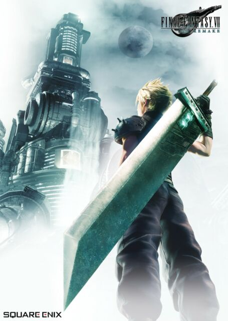 Official Key Art High Quality Prints Final Fantasy 7 Remake Poster