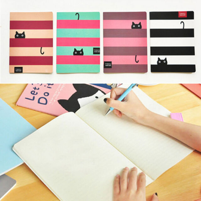 Cat Animal Paper Blank Pages BIG Notebook Note Book Journal Diary Notepad Memo
