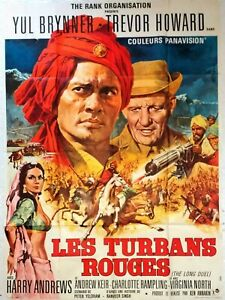 Plakat Kino Les Turbane Roten Yul Brynner - 120 X 160 CM