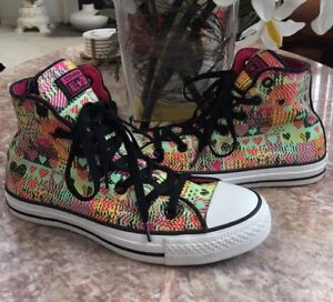 Details about New Converse Chuck Taylor All Star Girls Zipper Tongue Heart Shoe Sz 6 #246717C