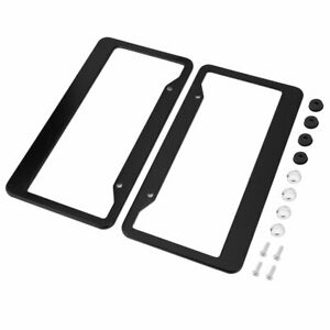 2pcs-Aluminum-Alloy-Car-License-Plate-Frame-Tag-Cover-Holder-With-Screw-Uq