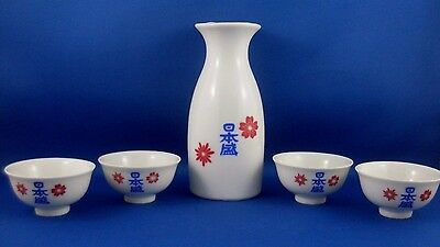 Rare JAPAN Special Porcelain 5Pc SAKE SET Collectable Bar Display VG - in Aust