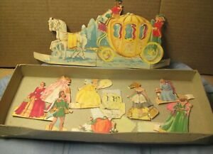 Vintage-1930s-50s-Paper-Dolls-Cinderella-Fairy-Tale-Christmas-Advertising-Box