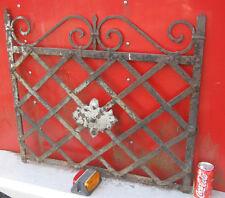 ANTIQUE ARCHITECTURAL GARDEN TRELLIS WROUGHT IRON GATE FENCE HOOK RACK HOLDER