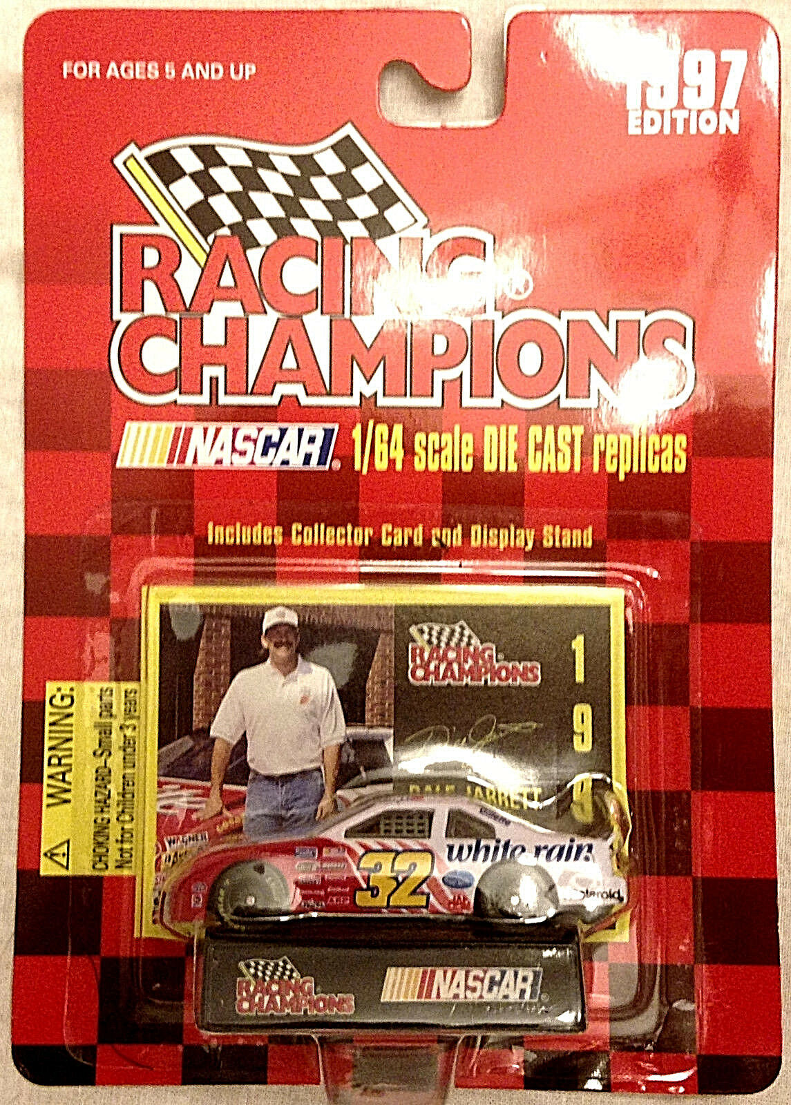 Racing Champions 1997 Edition NASCAR Dale Jarret Ford  64 Diecast MIP