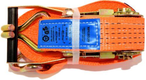4 x 10m Ratchet Strap 5000kg Lashing Straps Zurrgurte 2 PCS 5T Ratchet Clamp EN