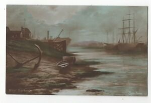 Rhyl-Harbour-Elmer-Keene-Flintshire-Wales-1923-Postcard-944b