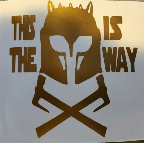 The Mandalorian Armorer Die Cut Sticker This Is The Way Many colors available