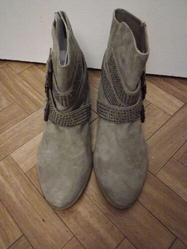 Beige De Boots 41 Wawswqf6ei Zara Neuves Nubuck T Cloutées Cuir xodWeCBQr