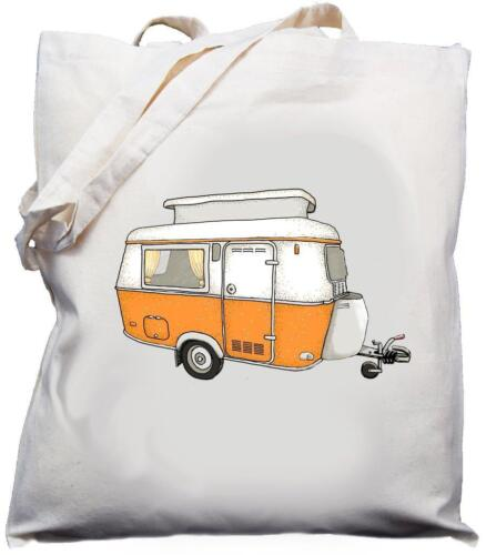 Natural Cotton Shoulder Bag choice of 5 Retro Pop Top Caravan Design Cream