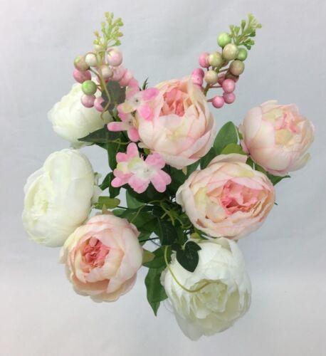 Artificial Flower Peonies Bush Wedding Flowers//Home decor//Party Decoration.