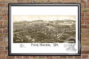 Vintage-Fair-Haven-VT-Map-1886-Historic-Vermont-Art-Old-Victorian-Industrial