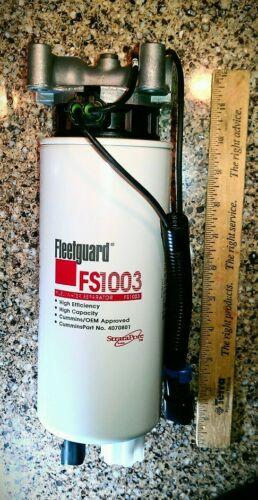 DIESEL FUEL HEATER HEAD /& FILTER 3935612 FLEETGUARD PAC HEATER  WATER SEPARATOR