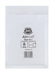 JL0-White-170-x-210mm-Bubble-Padded-JIFFY-AIRKRAFT-Postal-Bag-Envelope