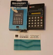 vintage sharp elsi mate EL-206 calculator lcd in box Japan working