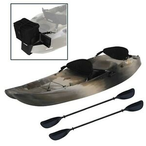 Details About Lifetime Sit On Top 90760 10 Ft Tandem Sport Fisher Camo Kayak With Motor Mount