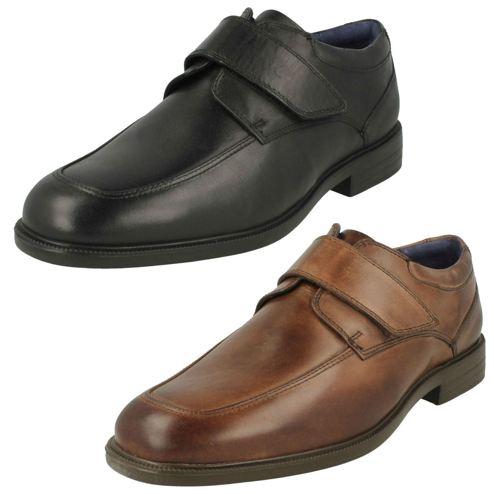 'Mens Padders' Formal Hook & Loop Fastening Shoes - Brent