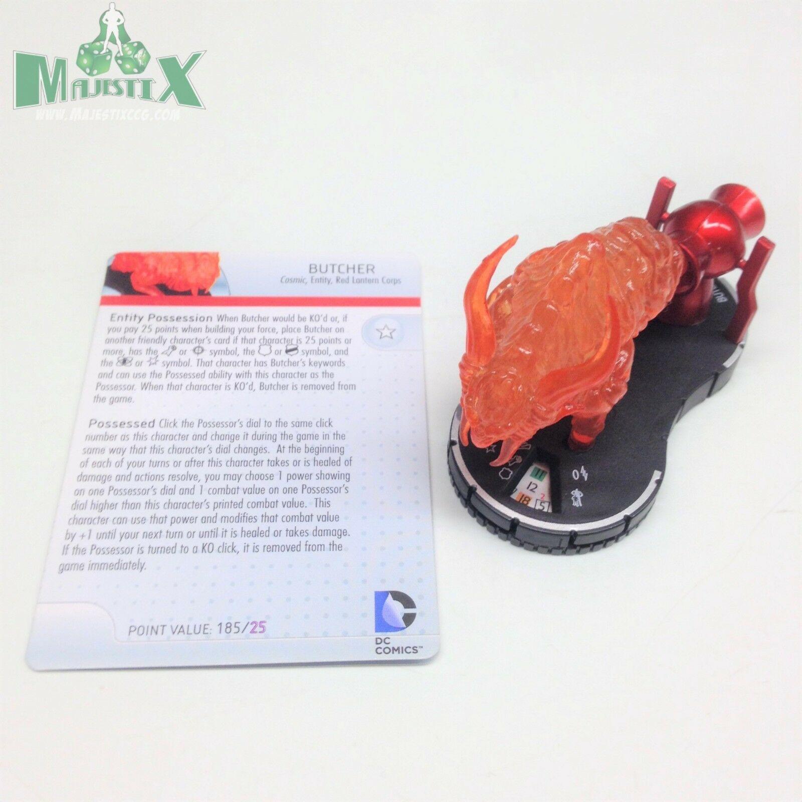 Heroclix krieg licht hat metzger (rote laterne)   066 chase abbildung w   karte