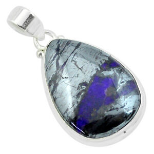 925-Sterling-Silver-24-00cts-Natural-Purple-Sugilite-Pendant-Jewelry-P53476