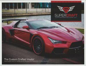 2016 Supercraft Custom Crafted Cars Vaydor Info Card Ebay