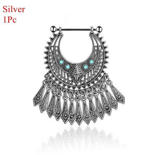 Nipple Bar Ring Acier chirurgical Shield Bar Turquoise Body Piercing Jewelry