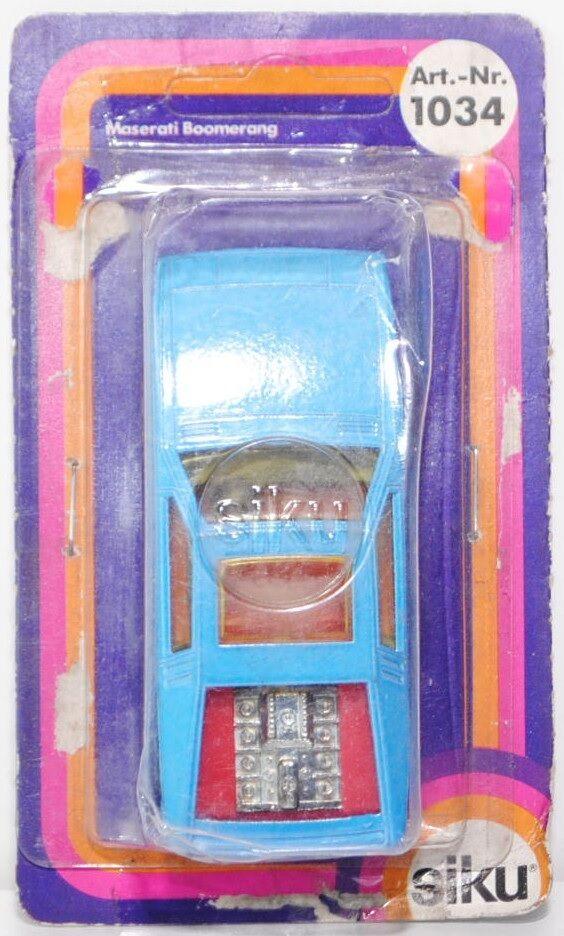 Siku Super 1034 MASERATI BOOMERANG modello 1972, 1 55, OVP