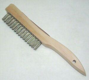 KT Industries 5-2206 Brass Wire Brush Wood Handle 3//8 x 1 3//8 x 7 3//4