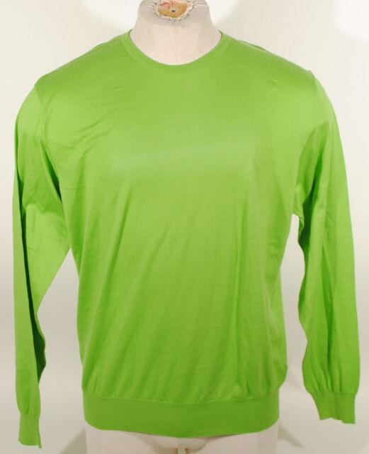 Ralph Lauren Purple Label Green Crew Sweater Italy Cashmere Blend $695 Sz XL D2A