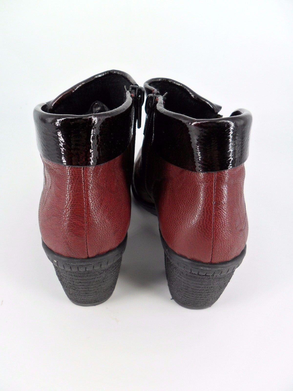 Rieker Ladies Ladies Ladies Leather Ankle Boots Burgundy UK 4 EU 37 LN11 75 SALEw e4e942