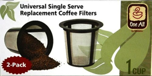 Set of 2 Medelco RK202 One All Universal Single-Cup Replacement Coffee Filter