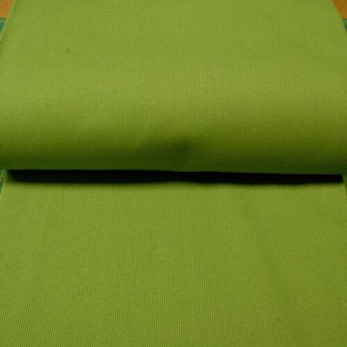 97/%Cotton 3/%Lycra HM Stretch Ribbing//Collar//Cuff Fabric Plain Grass Green HW